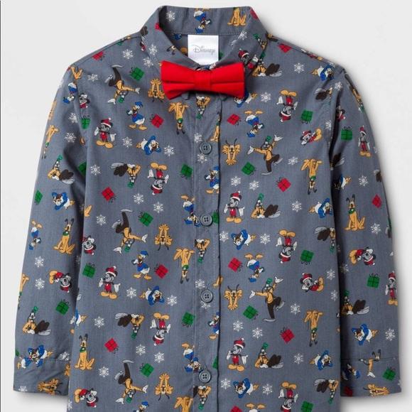 0241359fbe9e 5 25 NWT Toddler Boys  Disney ButtonDown Shirt